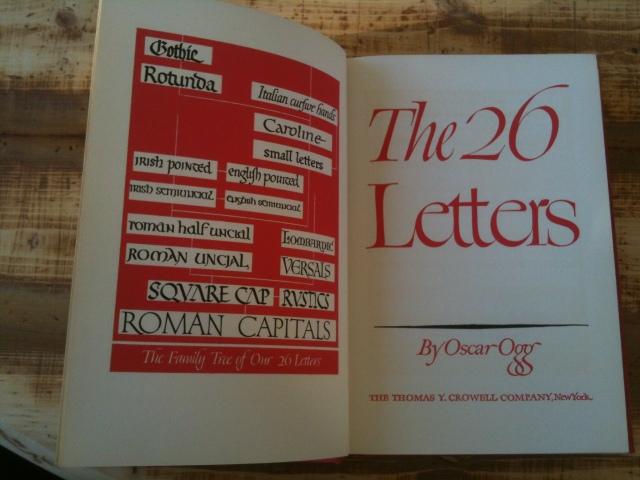 Tittelside med bokstavenes familietre