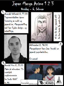 Plakaten for Japan Manga Anime i Arendal