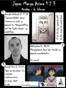 Plakaten for Japan Manga Anime i Arendal
