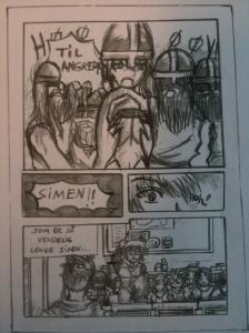 Utdrag fra mangaserie jeg fikk tilsendt til gjennomsyn av to norske videregående-elever.